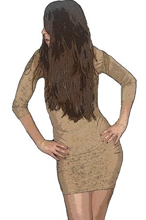 beige I made it dress