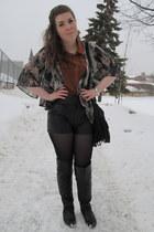 black Stitches boots - heather gray Eclipse jacket - black DIY bag