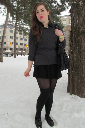 black Element bag - dark gray Stitches sweater - black Stitches skirt