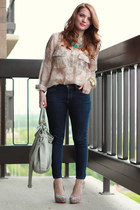 Forever 21 heels - James Jeans jeans - Yesstyle bag - Forever 21 blouse