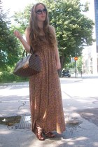 H&M dress - Louis Vuitton bag - H&M wedges