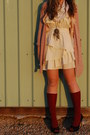 Cream-ruffled-papaya-dress-pink-knit-bohme-sweater