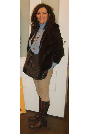brown Rimini 1928 jacket - brown Prada bag - Mango pants - armani shoes - AloaSt