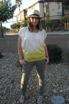Steve Madden shoes - fedora D&Y hat - Loft t-shirt - Express pants
