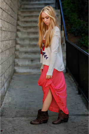 striped maxi Sprightly So skirt - tribal print Sprightly So sweatshirt