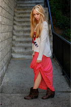 striped maxi Sprightly So skirt - tribal print Sprightly So sweatshirt