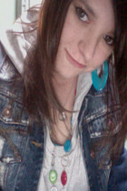 Wet Seal jacket - Wet Seal hoodie - colourful Wet Seal necklace