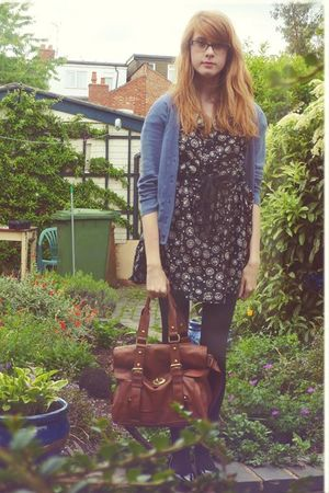 new look dress - H&M cardigan - new look purse - Primark shoes