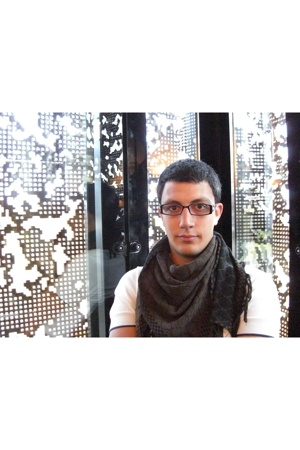 Zara shirt - H&amp;M scarf - Paco Rabanne glasses
