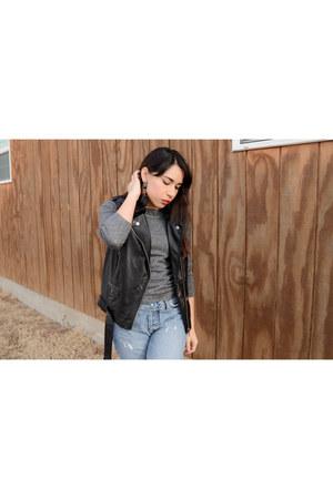 leather biker Stage vest - accessories zaful earrings
