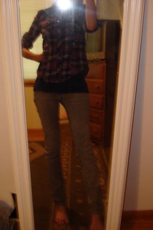 shirt - t-shirt - jeans