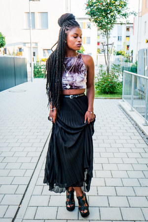 Vero Moda skirt - Pimkie heels - Urban Outfitters top