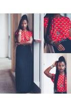 H&M boots - nümph shirt - Vero Moda skirt