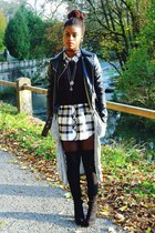 Primark cardigan - Tamaris boots - Vero Moda jacket - Monki shirt - H&M jumper