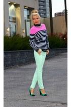 jennifer&grace blouse - Gap sweater - JCrew pants - JCrew heels
