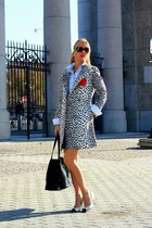 banana republic coat - Esdra shoes - DKNY bag - Michael Kors sunglasses