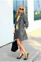 Old Navy dress - fervente coat - DKNY bag - Michael Kors sunglasses