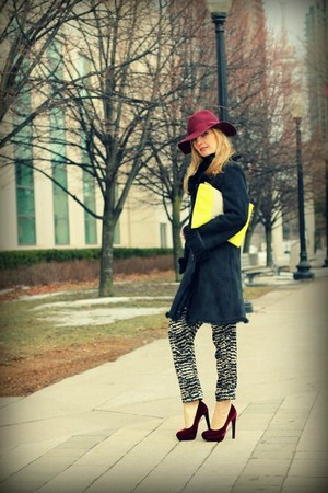 H&amp;M hat - Gap purse - H&amp;M heels - Costa Blanca pants
