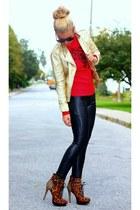 sam edelman boots - Bernardo jacket - Forever 21 leggings