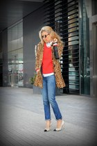 H&M coat - Gap jeans - Old Navy sweater - banana republic blouse - Esdra heels
