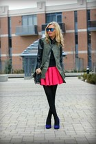 Forever21 skirt - David Dixon shoes - Zara jacket - zaroUV sunglasses