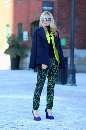 Topshop blazer - Zara jacket - Topshop pants - David Dixon heels