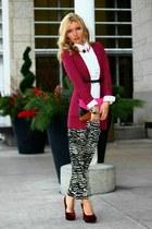 H&M cardigan - Costa Blanca pants - Zara blouse - H&M heels