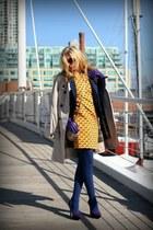 H&M dress - Zara coat - Zara blazer - kate&mel heels