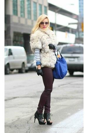 Zara bag - sam edelman heels - DKNY pants