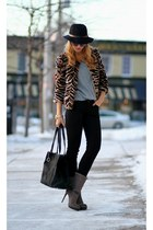 banana republic jacket - Jessica Simpson boots - DKNY bag