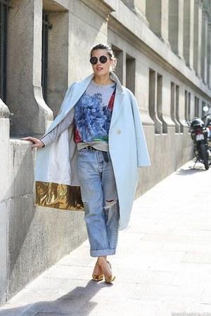 sky blue jeans