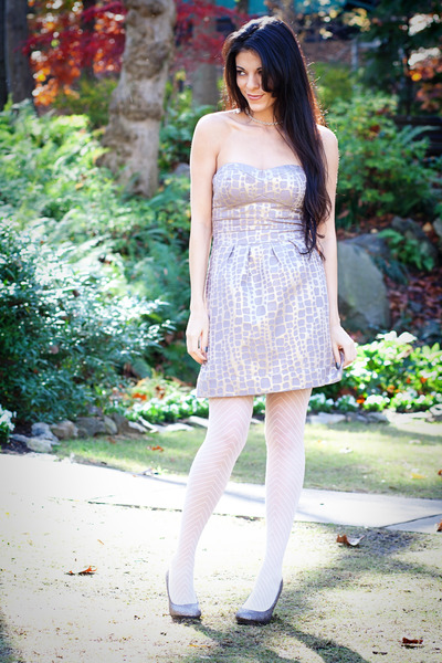 American Eagle dress - Forever 21 tights - Tiffany & Co necklace - Madden Girl s