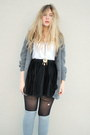 Black-jeane-blush-skirt-gray-h-m-socks