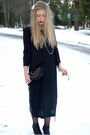 Black-acne-dress-black-roots-shoes-black-h-m-blazer-black-vintage-bag