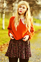 carrot orange romwe sweater