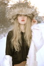 Camel-vilakii-leggings-white-bik-bok-cardigan-silver-vintage-hat-black-mon