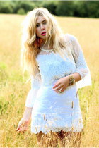 white lace Ida Sjstedt dress