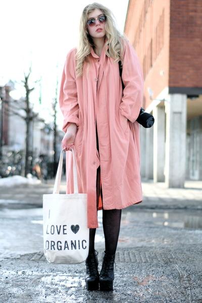 salmon moms vintage coat