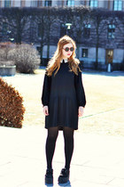 black creepers Underground shoes - black preppy second hand dress