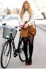 Ivory-striped-vintage-sweater-orange-floral-borrowed-skirt-black-foxy-jeffre