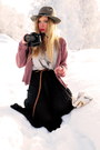 Black-sheer-bik-bok-skirt-silver-h-m-top-pink-monki-cardigan-black-camera-