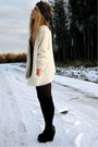 White-bik-bok-jacket-black-roots-shoes-dixi-socks-brown-diy-scarf