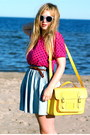 Yellow-satchel-romwe-bag-periwinkle-h-m-sunglasses-periwinkle-denim-monki-sk