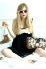Black-sheer-asos-dress-brown-satchel-gina-tricot-bag-white-retro-cheap-monda