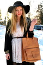 White-lace-monki-dress-black-floppy-vintage-hat-neutral-moms-vintage-bag-b