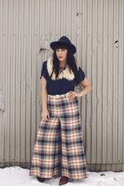 plaid thrifted vintage pants