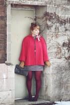 amethyst heathered sally jane vintage dress - hot pink Allen Co Vintage jacket -