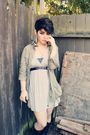 Green-love-21-jacket-gray-forever-21-dress-black-thrifted-boots