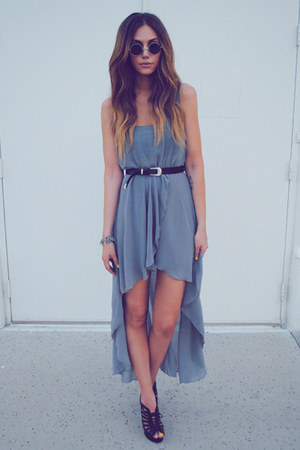 heather gray maxi dress maxi Love dress - silver round Nasty Gal sunglasses