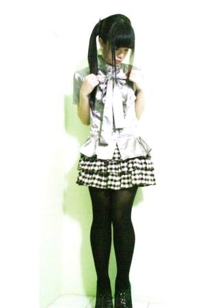 shirt - skirt - stockings - shoes